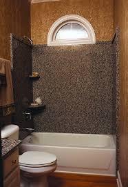 granite shower surround with trim edge piece