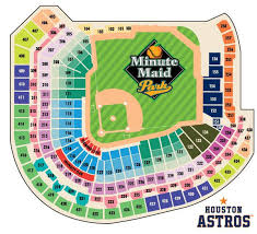 Astros Seating Chart In 2019 Minute Maid Park Houston