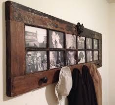 old door as coat rack