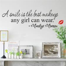 a smile is the best makeup wall stickers marilyn monroe quotes 8129 vinyl art mural home decor decal lips in wall stickers from home garden on  on marilyn monroe wall art quotes with a smile is the best makeup wall stickers marilyn monroe quotes 8129