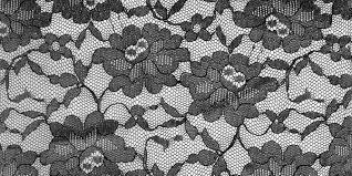 フリー素材 白地に黒の花柄レーステクスチャー素材繊細でキレイな