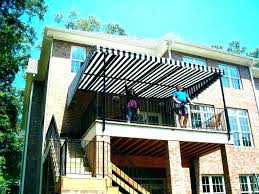 Awning Over Deck Beautiful Ideas How To Build A Wood