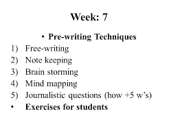 Prewriting Techniques Pre Writing Techniques Ppt Video Online Download