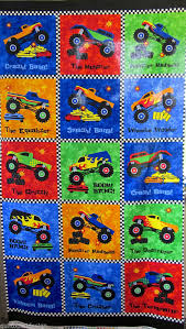 Northcott Fabric Bright Quilt Panel Boy Style Material Monster ... & Northcott Fabric Bright Quilt Panel Boy Style Material Monster Truck  Madness @$12.00 Adamdwight.com