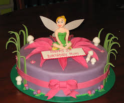 Let Them Eat Cake Tinkerbell On Pink Flower