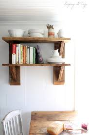 rustic shelves from reclaimed wood