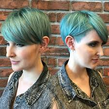 hair colour ideas for short hair 2015. colorful hair -sahved pixie cut -greeen color ideas - short hairstyle with colour for 2015
