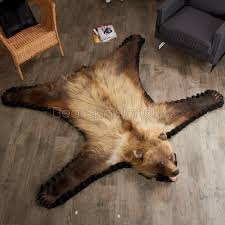 5 foot 7 inch grizzly bear rug leh90185701