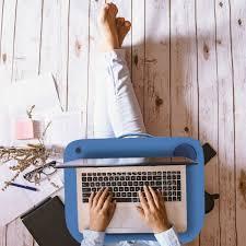 Laptop Lap Desk Portable With Foam Cushion Led Desk Light