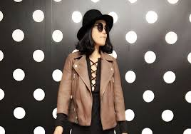 all saints cropped cargo leather biker jacket here similar here here