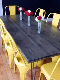 diy kitchen table red autumn blog