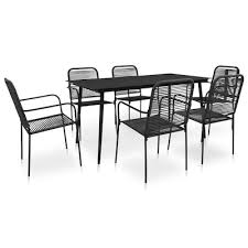 7 piece outdoor dining set cotton rope