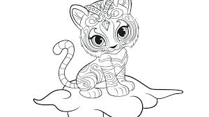 Shimmer And Shine Birthday Coloring Pages Coloring Shimmer And Shine