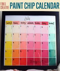 4 make your very own and very colorful personal calendar out of paint cards