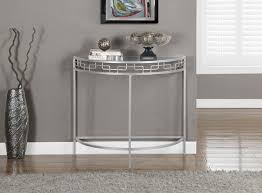 silver hall table. Silver Metal 36 Inch Hall Console Accent Table Contemporary