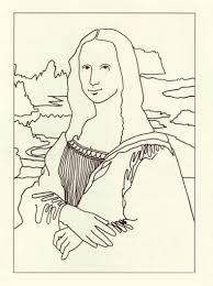 Mona Lisa Coloring Page To Go With Papa Piccolo Galloping The