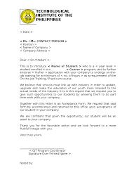 ojt endorsement letter