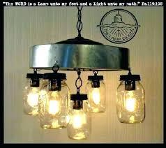 en wire light fixture mason jar lighting chandelier 5 diy l
