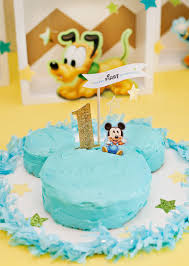 Baby Mickey Mouse Edible Cake Decorations Creative Mickey Mouse 1st Birthday Party Ideas Free Printables