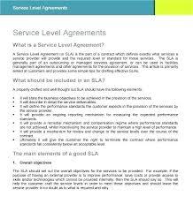 Cloud Service Level Agreement Template