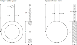 Ring Blank Size Chart Dimensions Of Spades Paddle Blank And Ring Spacers Paddle