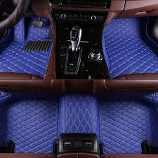 Custom Fit Design Alano Car Floor Mat Custom Fit Luxury Leather Waterproof 3d Full Coverage Honda Civic Mats 2012 2015 Blue