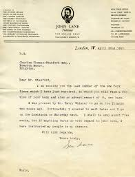 missing the titanic letter from john lane to charles thomas stanford 22 1912