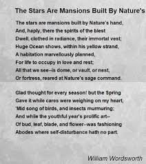 the stars are mansions built by nature s hand poem by william  the stars are mansions built by nature s hand poem by william wordsworth poem hunter
