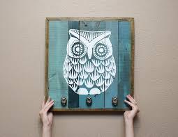 wooden owl wall decor