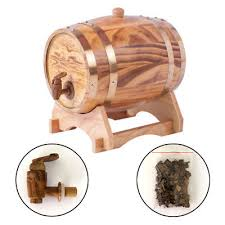 oak wine barrel barrels whiskey. Oak Barrel 1.5l Light Yellow Wooden Wine For Storage Aging Whiskey Spirit Barrels