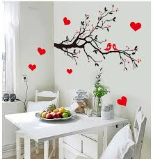7179 diy wall art decal decoration love birds tree branches wall stickers home decor 3d wallpaper for living room artistic wall decals baby nursery wall