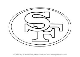 step by step how to draw san francisco 49ers logo drawingtutorials101