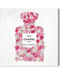 oliver gal number 5 rose ii canvas wall art on number canvas wall art with slash prices on oliver gal number 5 rose ii canvas wall art