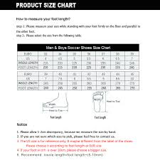 Cleat Cover Size Chart Us 24 73 36 Off New Adults Mens Outdoor Soccer Cleats High Top Ankle Fg Football Boots Training Sports Sneakers Breathable Futsal Shoes 38 44 In