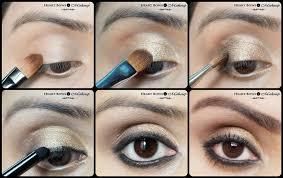 beautiful gold smokey eye makeup step by step tutorial