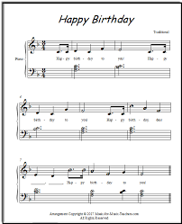 happy birthday free sheet for
