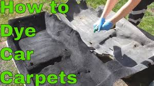how to dye your carpets black