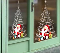 office xmas decorations. Christmas Window Stickers Office Party Supplies Winter Wall 2018 New Year Xmas Decorations Big Outdoor E