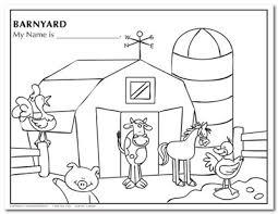 Small Picture Barnyard Coloring Pages Barnyard Animals Coloring Sheets