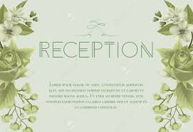 wedding reception card wedding reception card design with blossoms rose and lily of