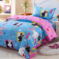 cute blue animal designer artsy kids bedding sets