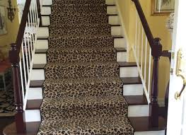 leopard animal print stair runner hemphill 039 s rugs