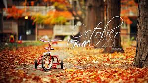 Autumn Fall October Calendar - October ...