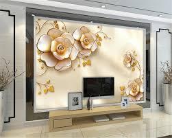 Kopen Beibehang Mooie 3d Sieraden Bloemen Europese Tv Achtergrond 3d