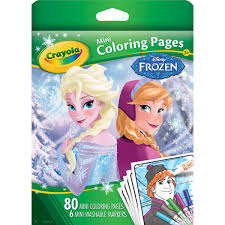 Small Picture Amazoncom Crayola Frozen Mini Coloring Pages Toys Games