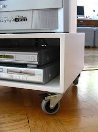 furniture with wheels. i like wheels too both the look of them but also function here they allow us to swivel tv from sofa mode dinner know bad habit furniture with o