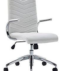 charming white office. Charming White Office Chair Baresi With Padded Armrests And Chrome I