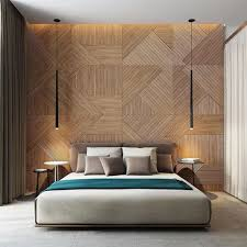 Bedroom: Grey Wood Panel Bedroom Walls - Wooden Panel Bedroom