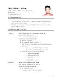 Job Application Resume Template Chanceinc Co