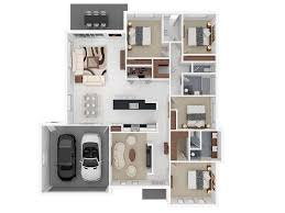 One Story House Plans With Porches 3 To 4 Bedrooms And 140 To 4 Bedroom Townhouse Floor Plans